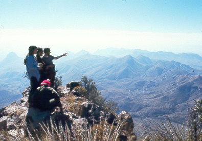 Me leading a Backpacking trip in Big Bend National Park